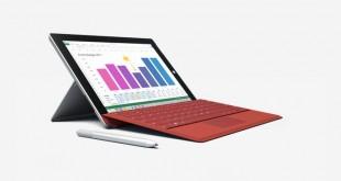 نسخة 4G LTE من الجهاز اللوحي Surface 3 متاحة للجميع